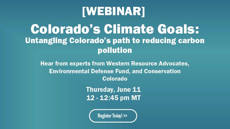 Coloado's Climate Goals Webinar